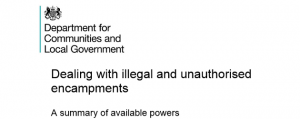 Dealing with illegal & unauthorised encampments