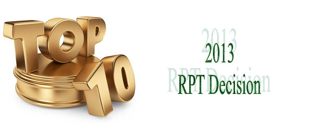 theEHP's Top 10 RPT Decisions 2013