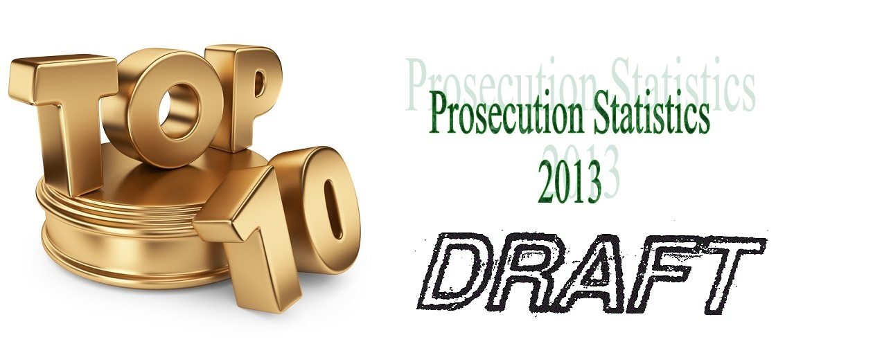Draft Prosecution Statistics for 2013