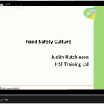 Webinar: Food Safety Culture