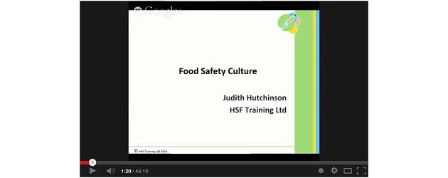 Webinar: Food Safety Culture